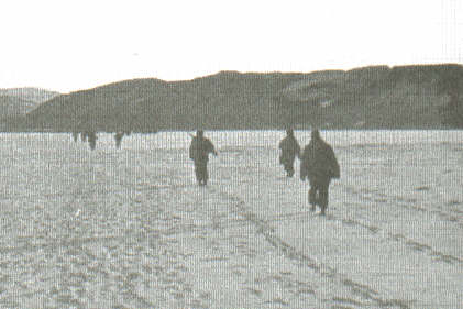 The 31st RCT crossing the reservoir